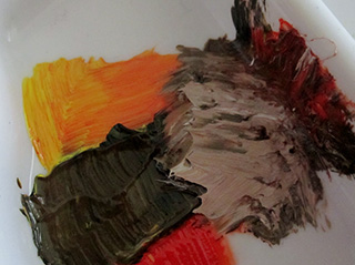 Mixing paint colours what colours make brown elizabeth for Comment faire du maron