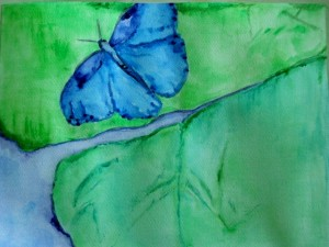 watercolor painting of butterfly